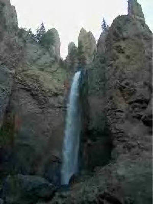 A waterfall we enjoyed in the Western US