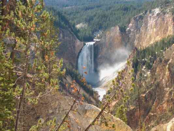 Waterfall in Yellowstone National Park. We were camped at the Fishing Bridge RV Park